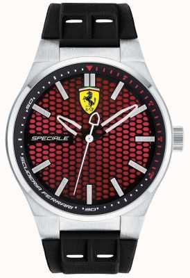 Scuderia Ferrari Bracelet en caoutchouc noir spécial spécial pour les hommes cadran rouge 0830353
