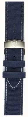 Elliot Brown Sangle déployante en toile bleu délavé 22 mm pour homme uniquement STR-C01