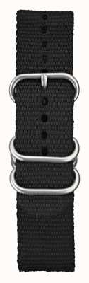 Elliot Brown Matériel brossé en nylon balistique noir 22mm noir STR-N03
