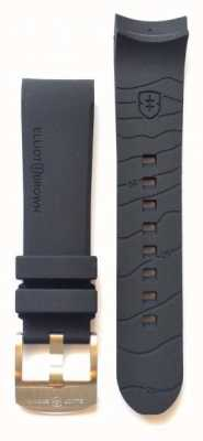 Elliot Brown Bracelet à boucle en caoutchouc noir pour homme 22mm seulement STR-R01