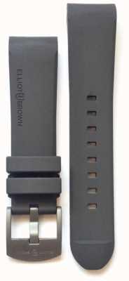 Elliot Brown Boucle à ardillon en acier en caoutchouc gris 22 mm pour homme STR-R02