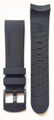 Elliot Brown Bracelet à boucle en caoutchouc caoutchouc noir 22mm noir STR-R06