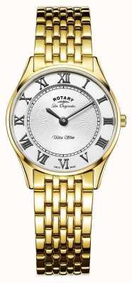 Rotary Womens les originales cadran blanc ultra-mince LB90803/01