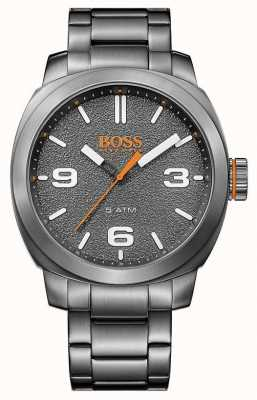 Hugo Boss Orange Mens ton gris acier inoxydable cadran gris 1513420