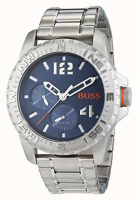 Hugo Boss Orange Mens reykjavik bracelet en acier inoxydable cadran bleu 1513424