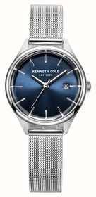 Kenneth Cole Womens cadran bleu maille d'acier inoxydable KC10030841