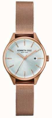 Kenneth Cole Chaîne en or rose rose en acier inoxydable cadran argenté KC10030842