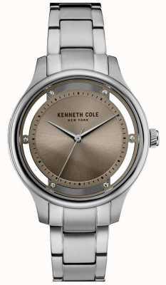 Kenneth Cole Bracelet en acier inoxydable pour femme en argent KC10030795