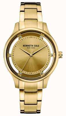 Kenneth Cole Cadran doré en acier inoxydable KC10030797
