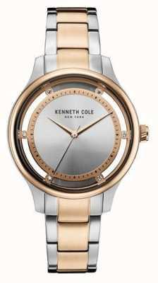 Kenneth Cole Womens deux tons en acier inoxydable bracelet en argent KC10030798