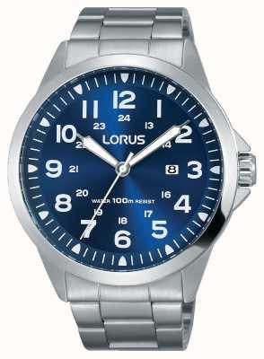 Lorus Bracelet en acier inoxydable bracelet bleu RH925GX9