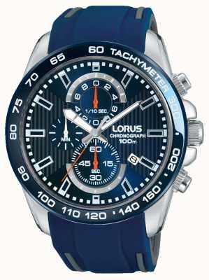 Lorus Bracelet en caoutchouc bleu homme cadran bleu RM389CX9