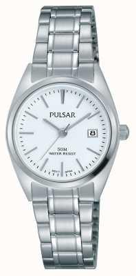 Pulsar Womens bracelet en acier inoxydable cadran blanc PH7439X1