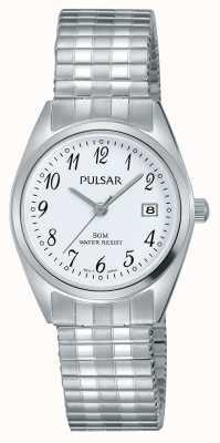 Pulsar Womens bracelet en acier inoxydable cadran blanc PH7443X1