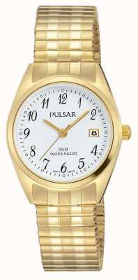 Pulsar Womens ton or en acier inoxydable cadran blanc PH7444X1