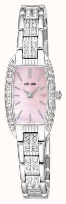 Pulsar Womens bracelet en acier inoxydable mère rose cadran nacre PEGG75X1
