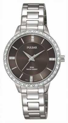 Pulsar Womens cadran bracelet brun en acier inoxydable PH8215X1