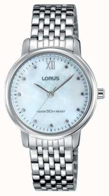 Lorus Womens bracelet en acier inoxydable mère rose cadran nacre RG223LX9