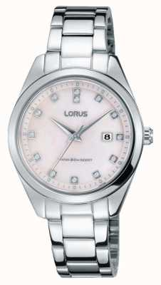 Lorus Bracelet en acier inoxydable pour femme en argent sterling rose RJ247BX9