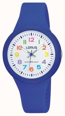 Lorus Unisex bracelet en caoutchouc bleu cadran blanc RRX45EX9