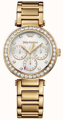 Juicy Couture Femmes cali or ton acier inoxydable cadran blanc 1901504