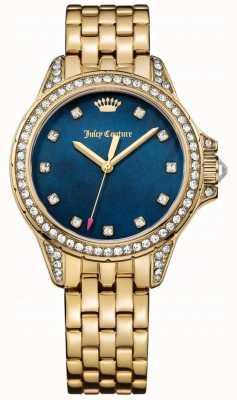 Juicy Couture Womens acier inoxydable ton or malibu mère bleu de perle 1901492