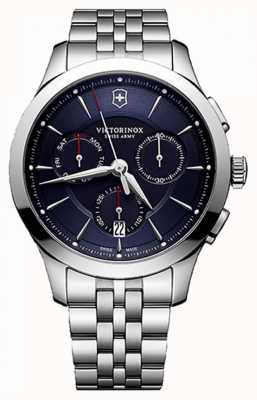 Victorinox Swiss Army Mens alliance chronographe cadran bleu en acier inoxydable 241746
