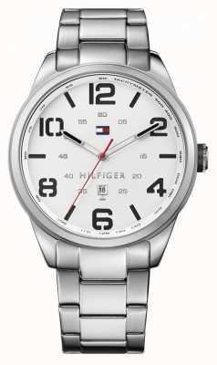 Tommy Hilfiger Mens conner bracelet en acier inoxydable cadran blanc 1791159