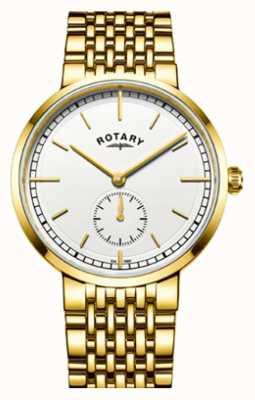 Rotary or ton acier inoxydable cadran blanc de Mens GB05062/02