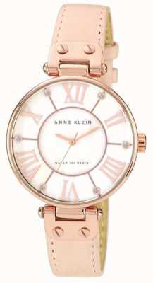 Anne Klein Cadran creme en cuir rose pour femme 10/N9918RGLP