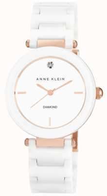 Anne Klein Bracelet en céramique blanche pour femme cadran blanc AK/N1018RGWT