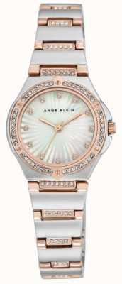 Anne Klein Bracelet à deux tons en cuir féminin de mât perlé AK/N2417MPRT