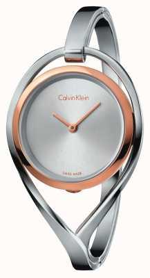 Calvin Klein Boîtier en or rose en acier inoxydable léger et léger pour femme K6L2SB16