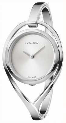 Calvin Klein Bracelet en argent en acier inoxydable petit bracelet léger pour femme K6L2S116