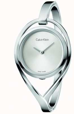 Calvin Klein Cadran argenté en acier inoxydable moyen Bangel K6L2M116