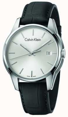 Calvin Klein Bracelet en cuir noir en cuir K7K411C6