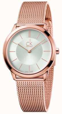 Calvin Klein Chaîne mince or rose rose K3M22626