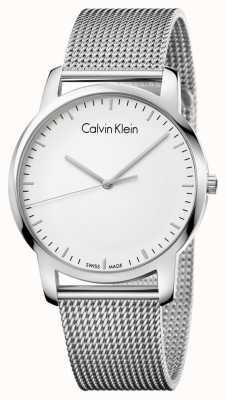 Calvin Klein Mens city bracelet en maille en acier inoxydable K2G2G126