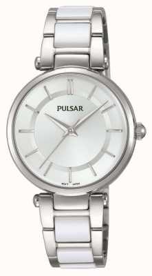 Pulsar Montre femme en acier inoxydable et blanc PH8191X1