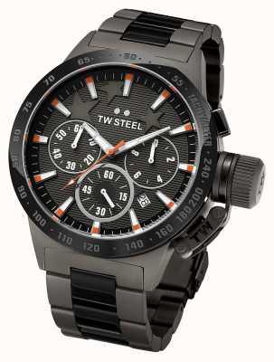 TW Steel Mens cantine titane foncé chronographe noir TW313