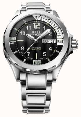 Ball Watch Company Moteur ingénieur mâle ii plongeur automatique en acier inoxydable DM3020A-SAJ-BK