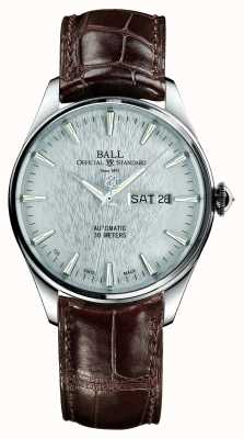 Ball Watch Company Trainmaster eternity bracelet crockodile automatique cadran argenté NM2080D-LJ-SL