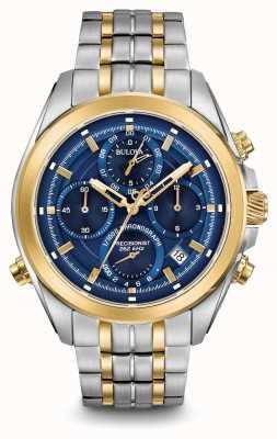 Bulova Mens précisionniste chronographe à deux tons 98B276