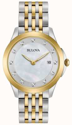 Bulova Montre femme à diamants deux diamants 98S161