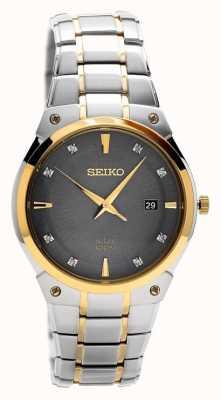 Seiko Mens en acier inoxydable solaire cadran gris SNE430P9