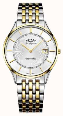 Rotary Mens deux tons bracelet ultra mince GB90801/02