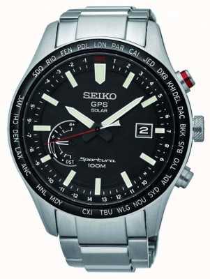 Seiko Sportura gps perpétuel chronographe solaire en acier inoxydable SSF003J1