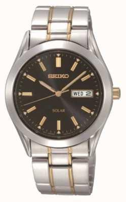Seiko Montre bracelet solaire pour homme SNE047P9