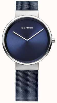 Bering fer bleu unisexe acier plaqué bracelet en maille 14531-307