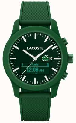 Lacoste Mens 12,12 contacts bluetooth montre intelligente caoutchouc vert 2010883